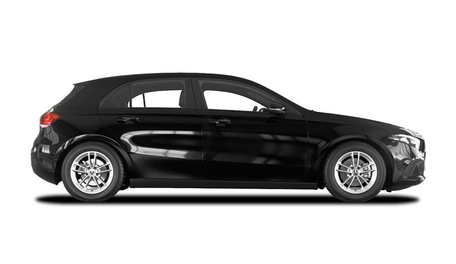 Autoleasing-valikoiman musta Mercedes-Benz A 180 A Business Style -malli sivusta.