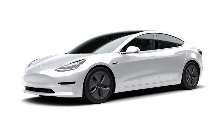 Valkoinen (Helmiäisvalkoinen) sähköauto Tesla Model 3 Long-Range Dual Motor AWD Autoleasing-verkkokaupasta.