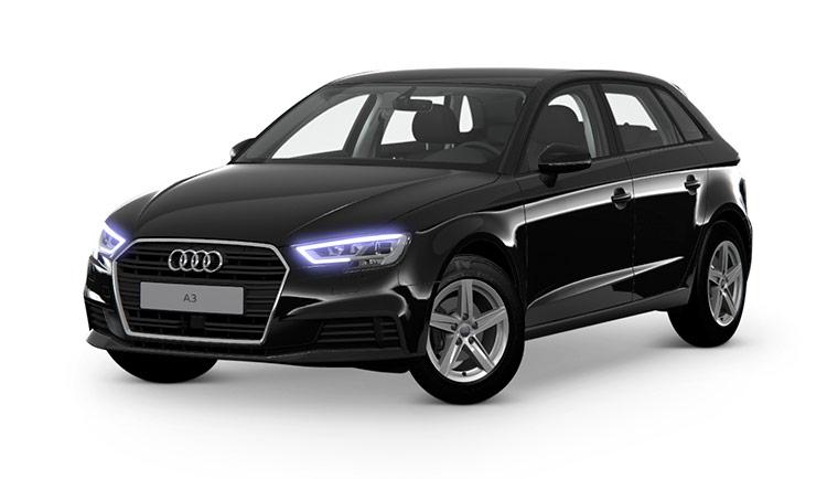 Musta (Briljantinmusta) Audi A3 Sportback Pro Business 35 TFSI 110kW S tronic Autoleasing-verkkokaupasta.