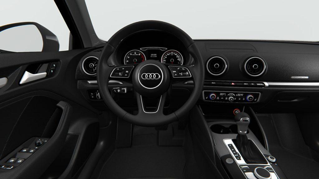 Autoleasing-valikoiman Audi A3 Sportback Pro Business 35 TFSI 110kW S tronic -mallin sisätilat.