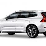 Autoleasing-valikoiman valkoinen Volvo XC60 T8 TwE AWD Business -malli takaviistosta.