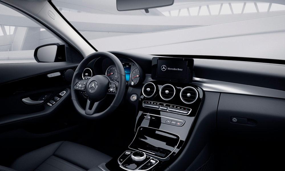 Autoleasing-valikoiman Mercedes-Benz C 160 A Business -mallin sisätilat.