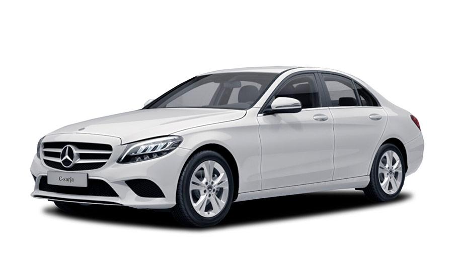 Valkoinen (Polarvalkoinen) Mercedes-Benz C 160 A Business Autoleasing-verkkokaupasta.