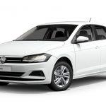 Valkoinen (Pure White) Volkswagen Polo Style 1,0 TSI 70 kW DSG Autoleasing-verkkokaupasta.
